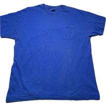 Vintage 70s 80s Hanes Mens Size XL Blank Blue Pocket T Shirt Usa Single ... - $24.68
