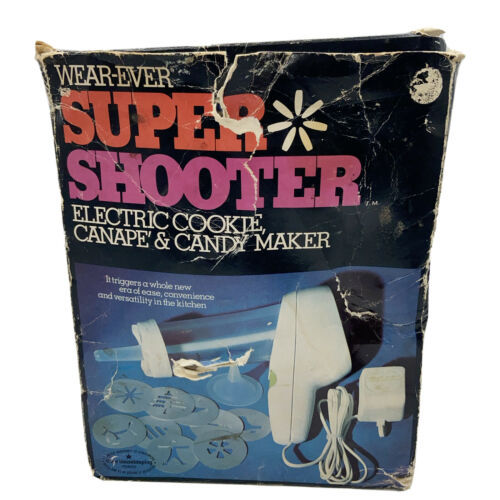 Vintage Wear-Ever Super Shooter Electric Cookie, Candy Maker No. 70001 *Read - $49.99