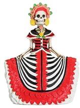 Dod Red Senorita Mexican Traditional Skeleton Sculpture - £13.45 GBP