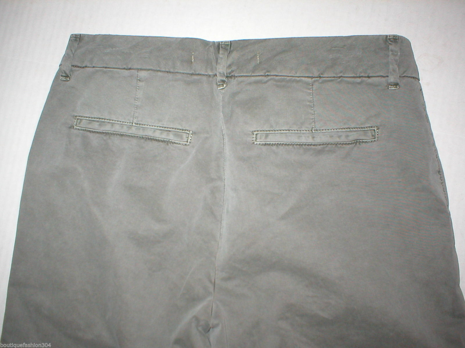 New J Brand Jeans Relaxed Womens Parker Vin Fort 25 Chino Pant Army Green Cotto image 7
