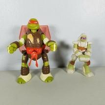 TMNT Flipping Michelangelo Action Figure 2013 & 2016 McDonalds Donatello... - $10.99