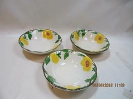3 Vintage Franciscan Mountain Rose Soup Cereal Bowls +1 free  HTF  flying F - $24.75