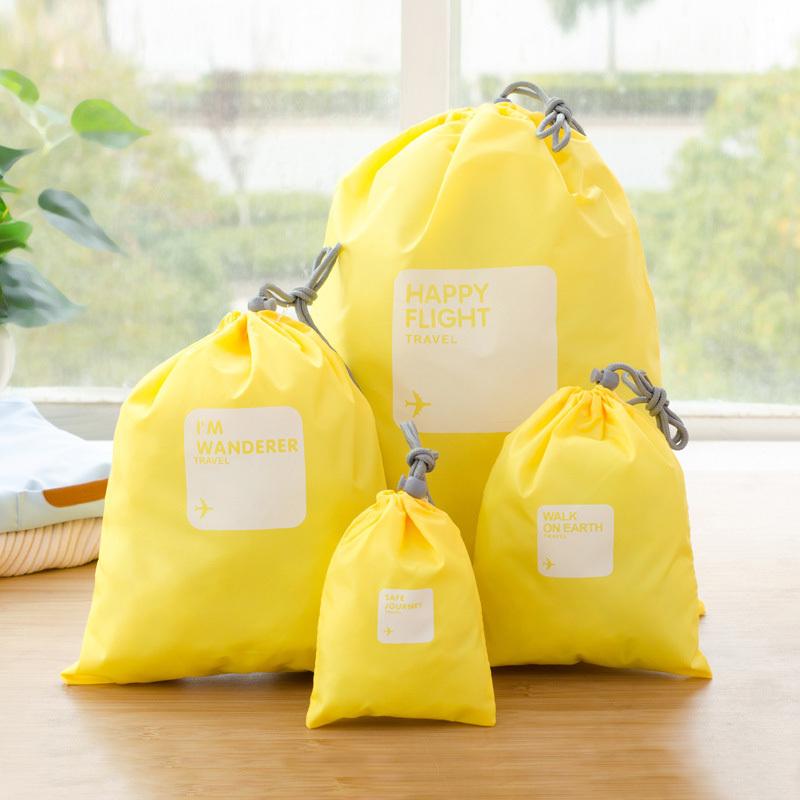 Aosbos 4pcs/set Waterproof Travel Cosmetic Bag Casual Nylon Storage Organizer Po