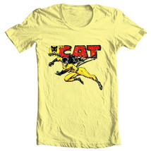 The Cat t shirt Tigra vintage retro 1970s Greer Grant Nelson female hero tee image 2