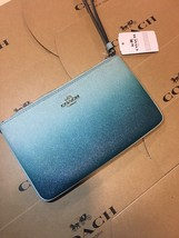 COACH NEW SEASON F21328 LARGE WRISTLET BLUE NEW WITH TAG - $101.57