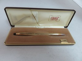 CROSS 10K GOLD FILLED WRITING PEN IN GIFT BOX VINTAGE 1970's - $34.65