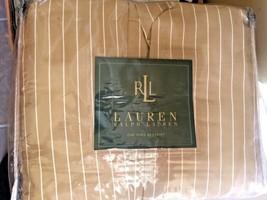 Vintage Ralph Lauren 52nd Street Caramel Tan King Bedskirt Sateen Cotton NWT - $69.99
