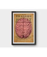 Vintage Brain Anatomy, Hamlet Inspired Art Poster - $15.00+