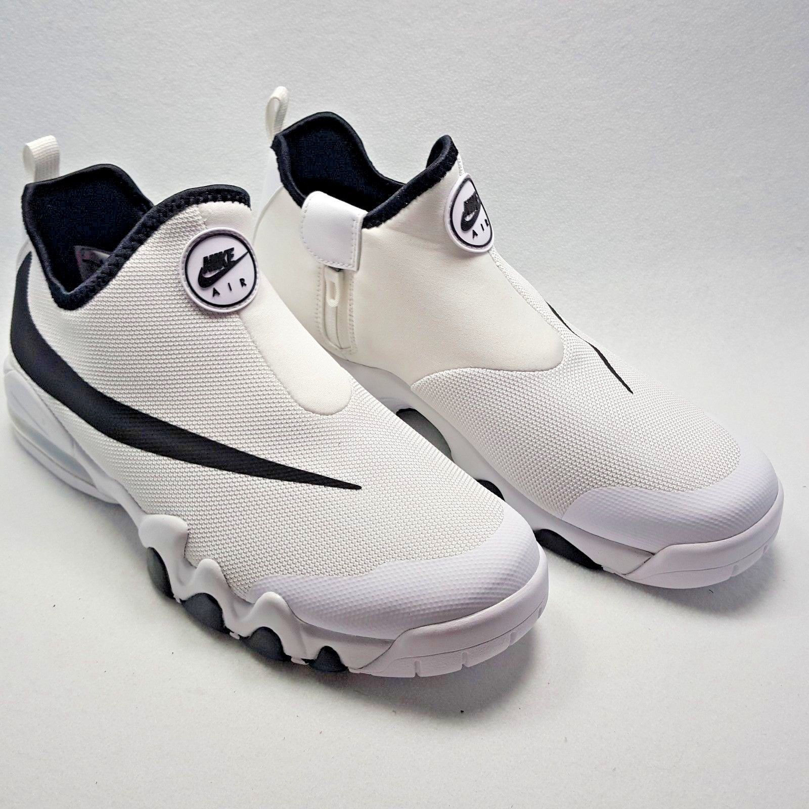 new styles d5a8e de47b ... purchase nike air max big swoosh charles barkley gary payton white  black shoe men size 12