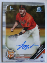 2019 Bowman Draft Chrome Logan Wyatt Giants 1st Bowman Auto Baseball Card  - $14.99
