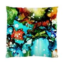 Pillow case Throw Pillow Cushion Cover Design 90 Abstract aqua blue by L.Dumas - $24.99+