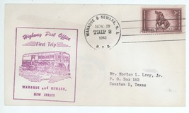 First Trip Highway Post Office 1948 Wanaque & Newark NJ Trip 2 HPO Cover! - $2.47