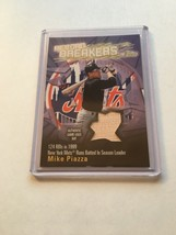 2003 TOPPS MIKE PIAZZA INSERT RECORD BREAKERS GAME USED BAT CARD NEW YOR... - $1.99