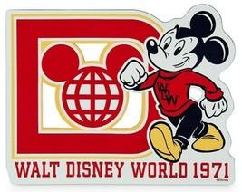 NEW Walt Disney World Globe Logo 1971 Mickey Car Magnet WDW Anniversary Birthday - $11.99