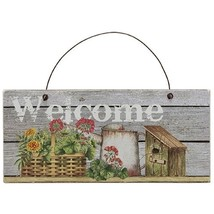 Flower Basket, Water Can Welcome Sign - $26.91