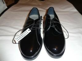WOMEN'S CAPP'S OXFORD AIRLITE UNIFORM FOOTWEAR - SHINEY BLACK - SIZE 8W - $17.82