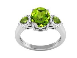 Women Special Silver Jewelry Sterling Peridot Shiny Gemstone Ring Sz 6 S... - £9.94 GBP