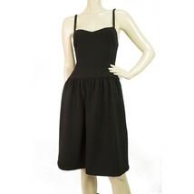 Ralph Lauren Black Wool Classic Spaghetti Straps Knee Length Evening Dress S 6 - $688.05