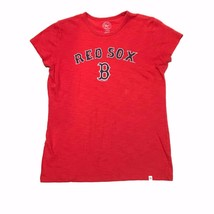 Boston Red Sox Shirt 47 Brand L Womens Size Large Red Navy Blue T Shirt ... - $16.04