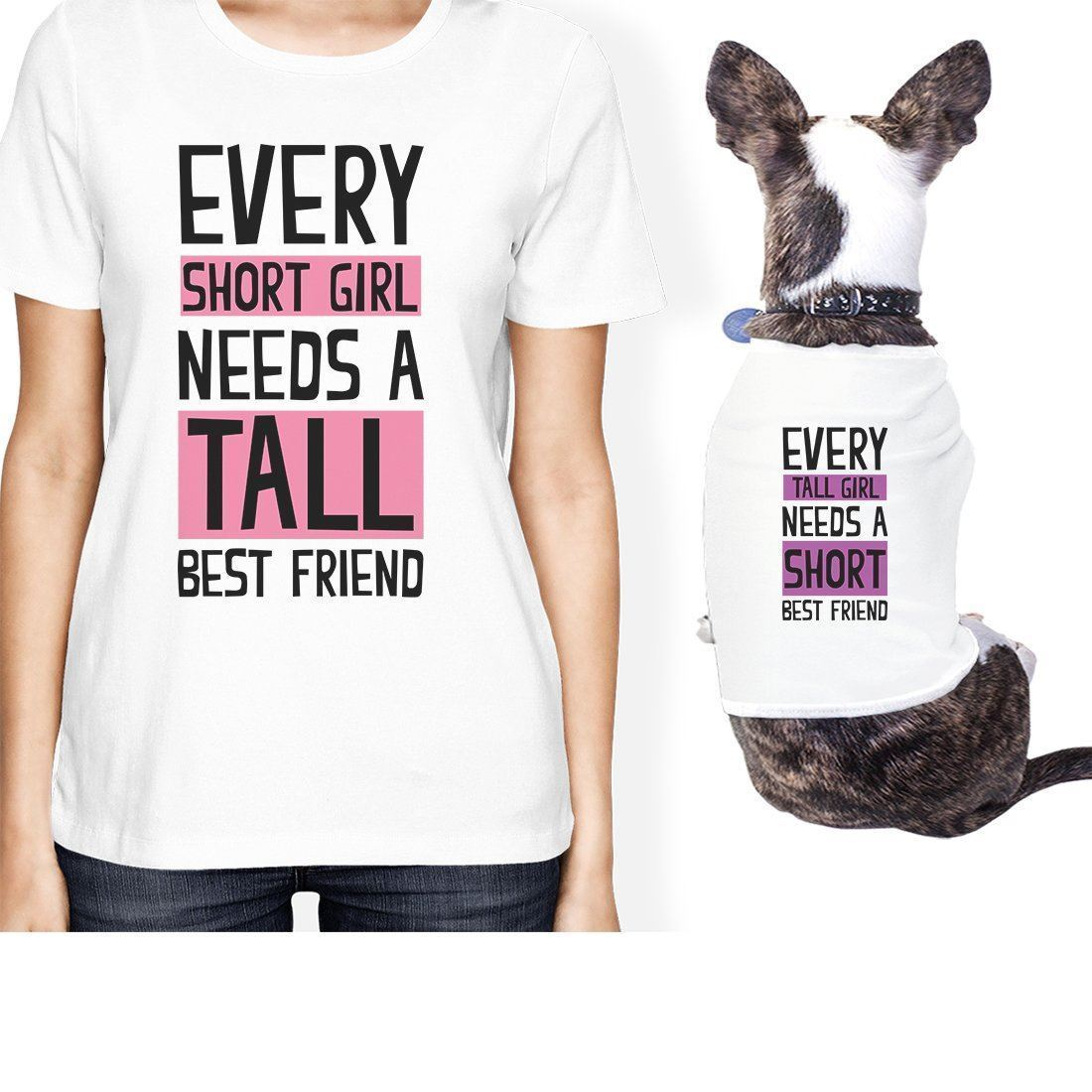 Tall Short Friend Small Pet Owner Matching Gift Outfits For Dog Mom