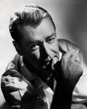 Alan Ladd 8x10 Photo moody study with cigarette - $7.99