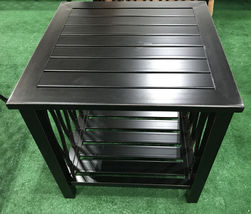 Patio end table Outdoor side accent square aluminum pool furniture. image 5