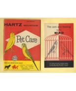 Vintage HARTZ MOUNTAIN Bird & Pet Care Pamphlets - Very Good Condition. - $3.50