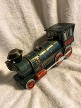 Vintage WESTERN Metal Toy Train Battery Operated Tin - $12.82