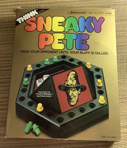 Vintage Sneaky Pete Bluffing Dice Game Think Series 1986 Pressman COMPLETE - $13.79