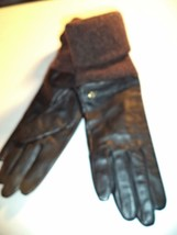 Etienne Aigner Genuine Leather Gloves,Brn, Medium-SEE DESCRIPTION FOR PICS - $38.81
