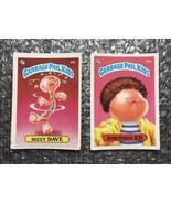 1985 Topps Garbage Pail Kids Original Series Lot: Dizzy Dave & Shrunken Ed - $3.92