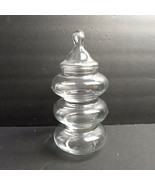 Clear Glass Apothecary Jar Tiered Wedding Decor Candy Holiday Buffet - $29.69