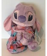 Disney Parks Lilo and Stitch Angel Girlfriend Plush with Blanket Pouch B... - $29.99