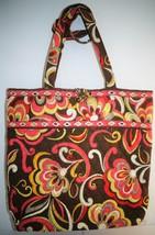 Retired Vera Bradley Puccini Floral Brown Tote Bag Purse  - ₹2,493.11 INR