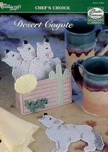 Desert Coyote Coaster Set Plastic Canvas PATTERN/INSTRUCTIONS/NEW - $1.77