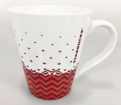 Starbucks Red Chevron Coffee Mug Cup 12 oz 2013 Tea Cocoa - $25.97