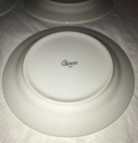WINDSOR Gibson China Christmas Green Red Checked Rocking Horse Salad Plates (4) image 4