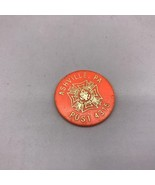 Vintage Vfw Ashville Pennsylvania Plástico Bebida Token - $25.90