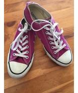 Converse All Stars Low Tops Size 6 women's 8 Hot Pink Fuchsia  - $12.86