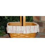 Longaberger Basket Garter Medium Size Awning Stripe Fabric New in Bag - $9.89