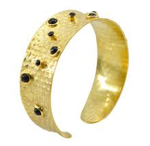 fine Multi Gemstone Gold Plated Multi Bangle genuine freely US gift - $21.77
