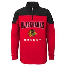 Outerstuff NHL Chicago Blackhawks Youth Boys Prospect 1/4 Zip, Large7, Red