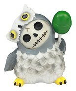 "Ebros Furry Bones Hootie The Snow Owl Skeleton Figurine 3"" H Furrybones ... - $9.40"