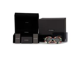Dolce & Gabbana Limited Edition Round Sunglasses Multicolored Swarovski Crystals - $1,519.74