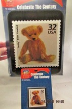 1998 USPS TEDDY BEAR 32 Cent Stamp  MOUSE PAD & Magnet Celebrate The Cen... - $15.79