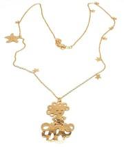 Long Necklace 27 5/8in, 925 Silver, Pendant Medusa, Starfish, le Favole image 1