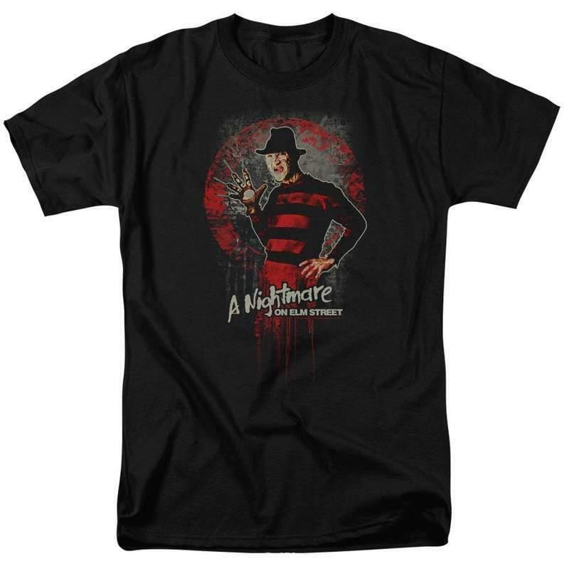 A Nightmare On Elm Street t-shirt Freddy Krueger horror graphic tee WBM551