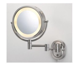 "Jerdon 8"" Brushed Nickel Dual Sided Surround Light Wall Mount Makeup Mirror - $71.26"