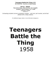Teenagers Battle the Thing 1958 #2160 TV DVD - $2.29