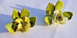 Pair Vintage ROYAL ADDERLEY FLORAL BOUQUET Place Card Holder Flowers BON... - $24.95